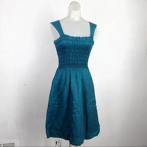 Anthropologie Maeve Square Neck Apron Midi Dress